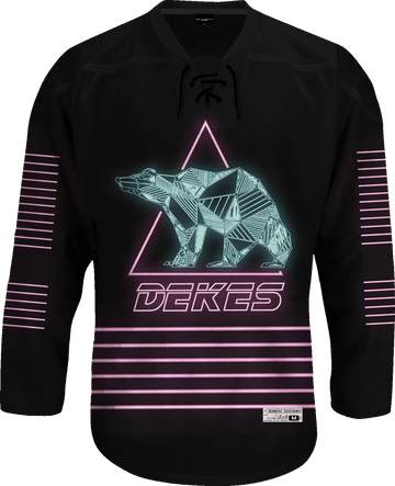 Delta Kappa Epsilon - Neon Polar Bear Hockey Jersey - Kinetic Society