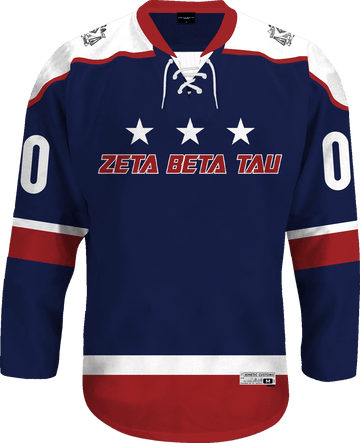 Zeta Beta Tau - Fame Hockey Jersey Hockey Kinetic Society LLC