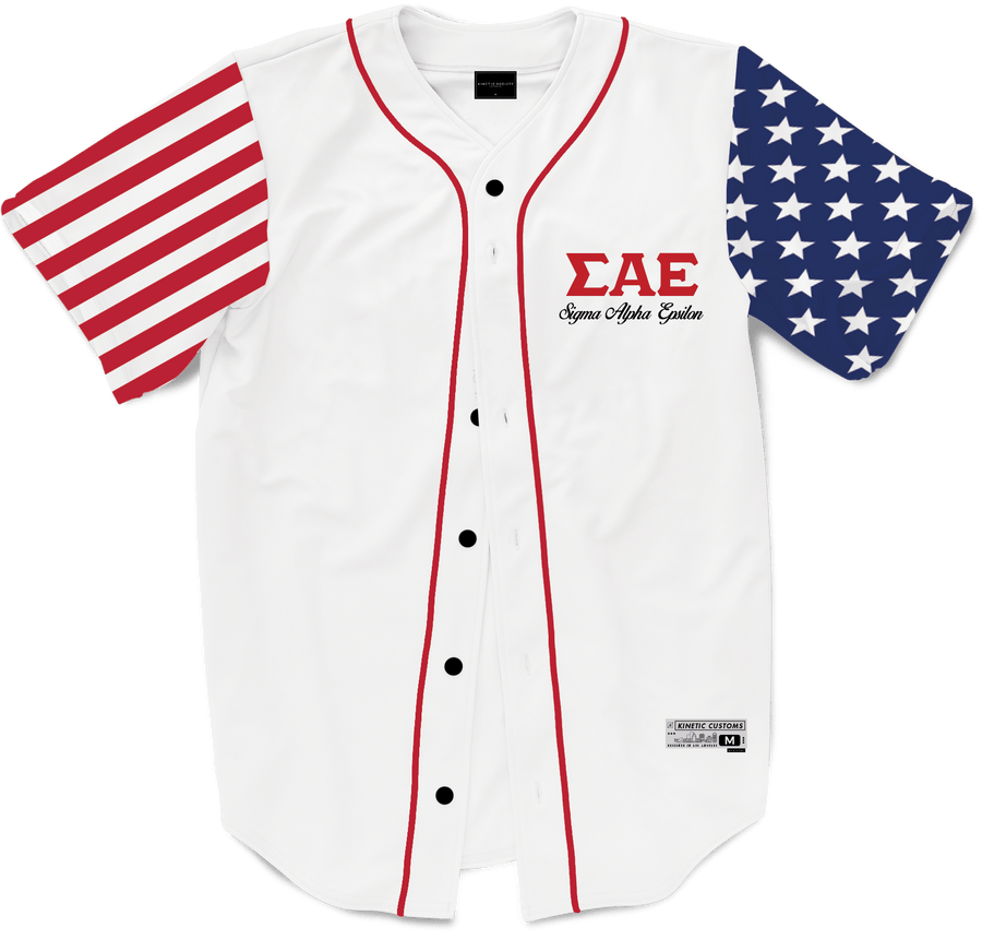 Sigma Alpha Epsilon - Flagship Baseball Jersey - Kinetic Society