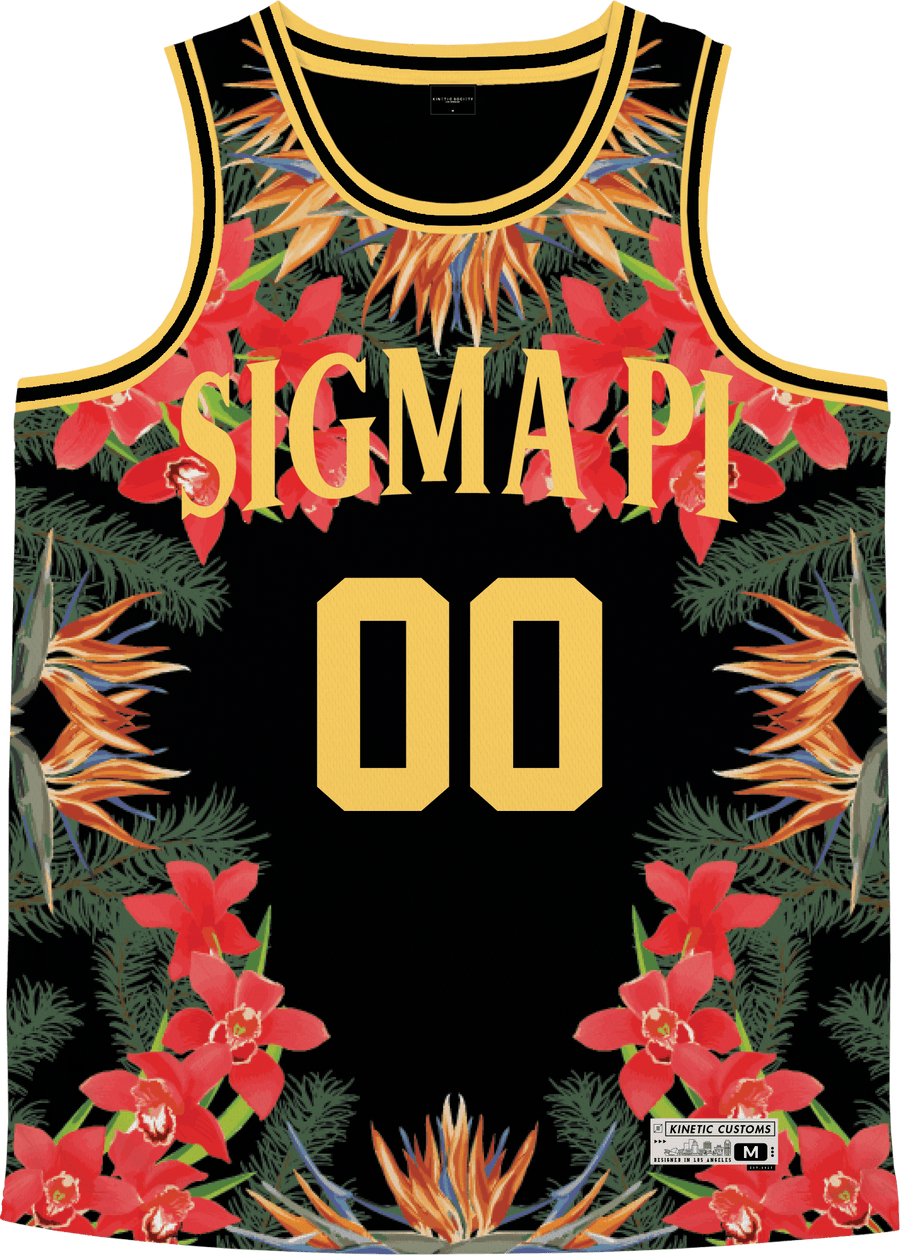 Sigma Pi - Orchid Paradise Basketball Jersey - Kinetic Society