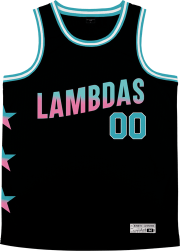 Lambda Phi Epsilon - Cotton Candy Basketball Jersey Premium Basketball Kinetic Society