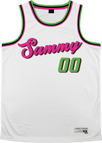 Sigma Alpha Mu - Bubble Gum Basketball Jersey - Kinetic Society