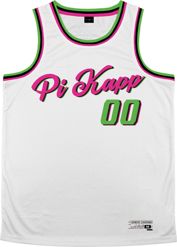 Pi Kappa Phi - Bubble Gum Basketball Jersey Premium Basketball Kinetic Society LLC