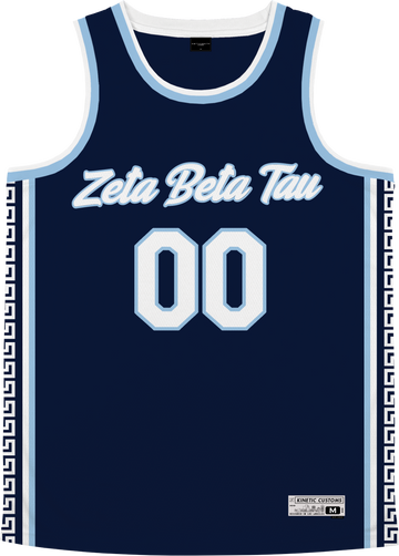 Zeta Beta Tau - Templar Basketball Jersey Premium Basketball Kinetic Society LLC