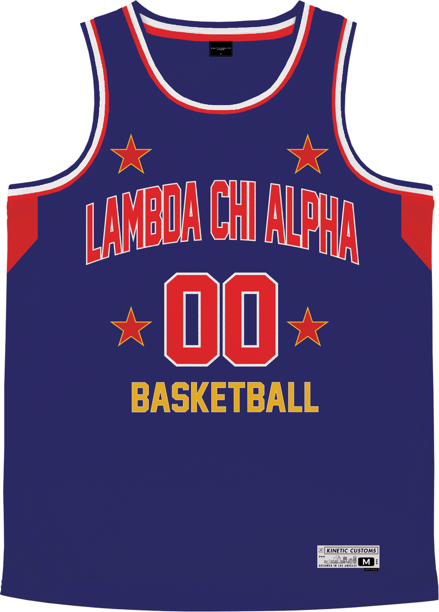 Lambda Chi Alpha - Retro Ballers Basketball Jersey - Kinetic Society