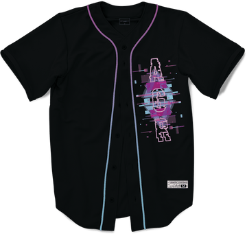 Alpha Gamma Rho - Glitched Vision Baseball Jersey - Kinetic Society