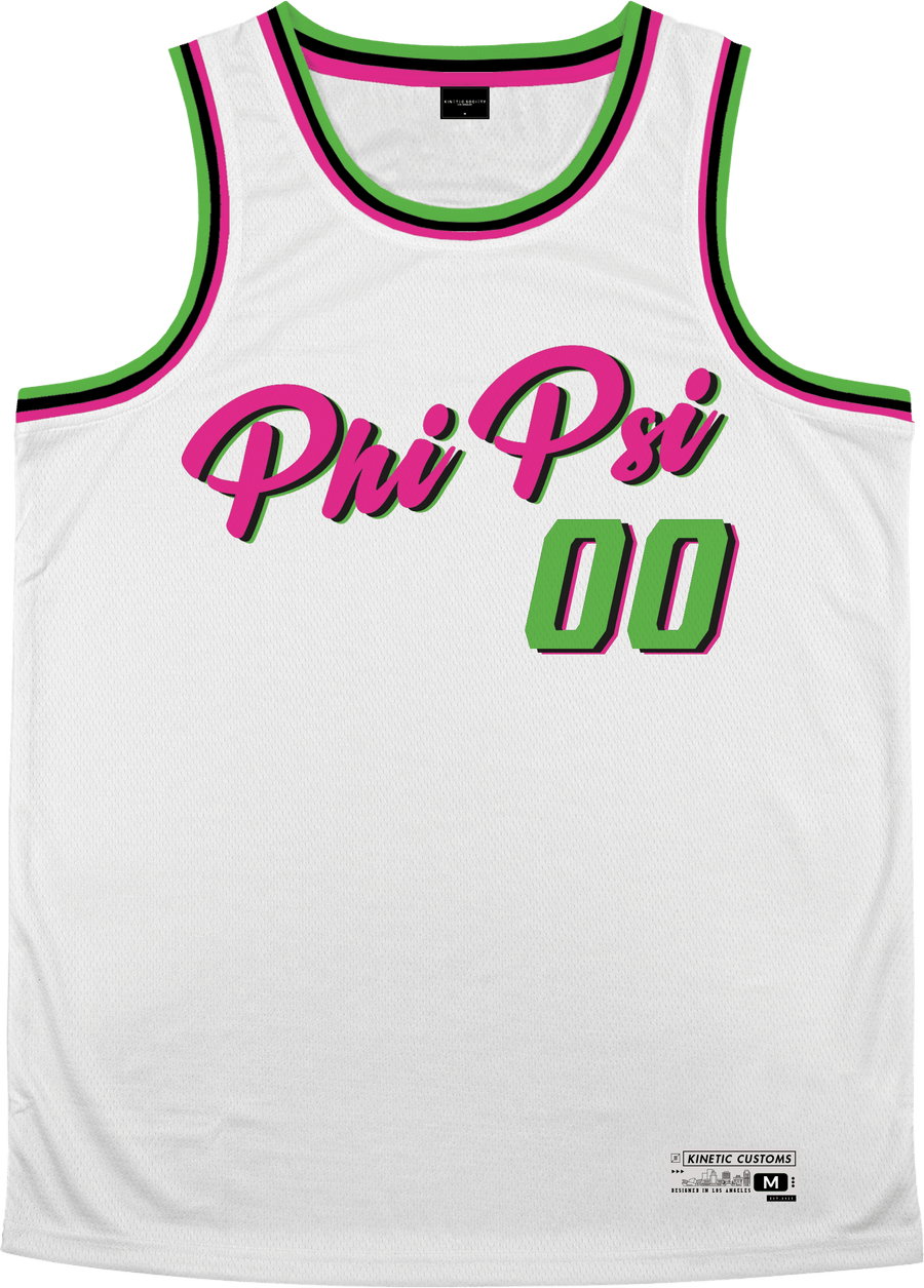 Phi Kappa Psi - Bubble Gum Basketball Jersey - Kinetic Society