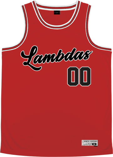Lambda Phi Epsilon - Big Red Basketball Jersey Premium Basketball Kinetic Society LLC