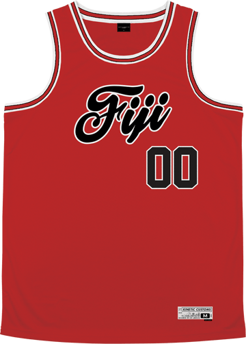 Phi Gamma Delta - Big Red Basketball Jersey Premium Basketball Kinetic Society LLC