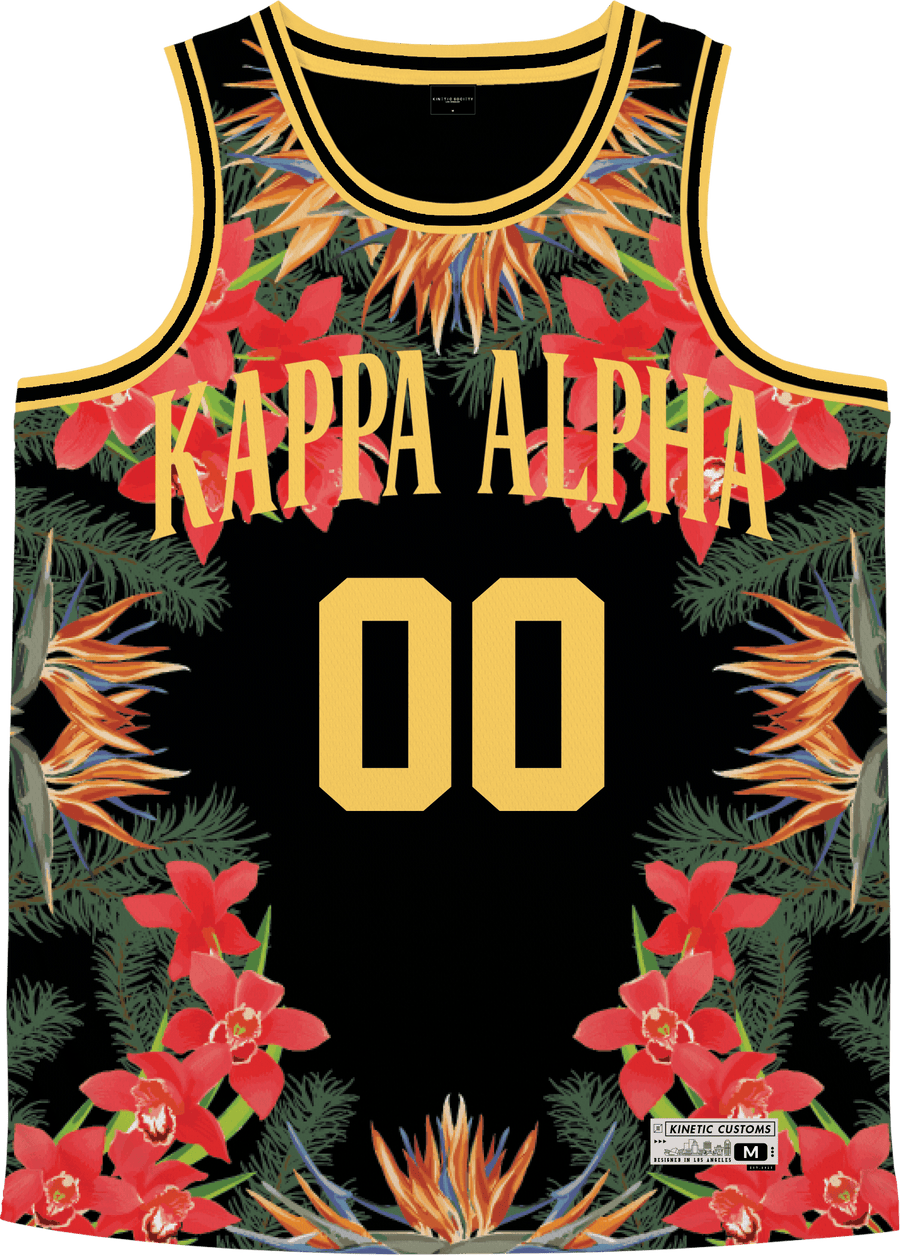 Kappa Alpha Order - Orchid Paradise Basketball Jersey - Kinetic Society