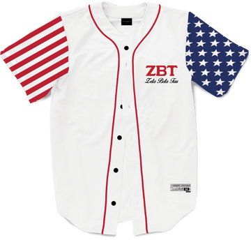 Zeta Beta Tau - Flagship Baseball Jersey Premium Baseball Kinetic Society LLC