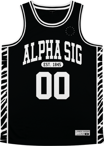 Alpha Sigma Phi - Zebra Flex Basketball Jersey - Kinetic Society