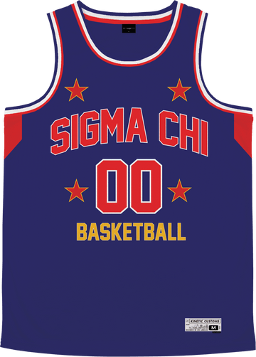 Sigma Chi - Retro Ballers Basketball Jersey - Kinetic Society