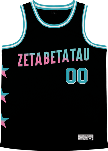 Zeta Beta Tau - Cotton Candy Basketball Jersey Premium Basketball Kinetic Society