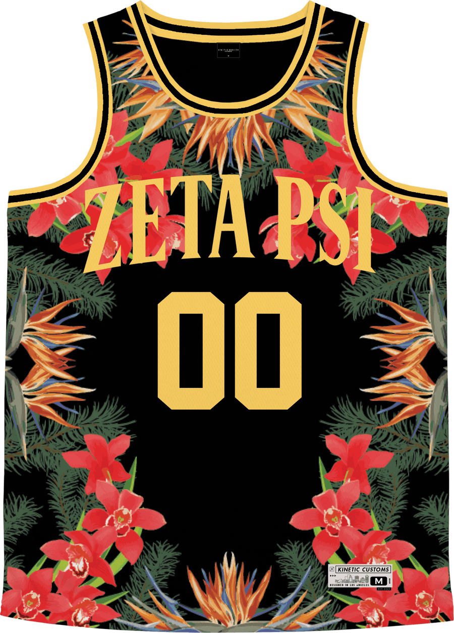Zeta Psi - Orchid Paradise Basketball Jersey - Kinetic Society