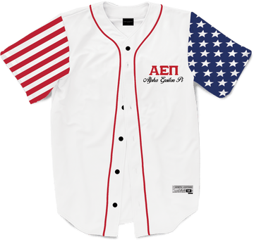 Alpha Epsilon Pi - Flagship Baseball Jersey Premium Baseball Kinetic Society LLC