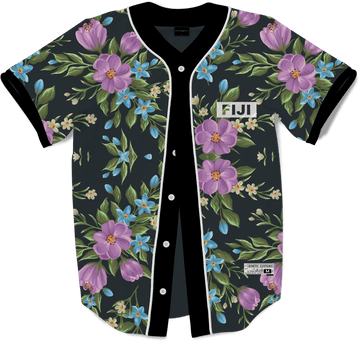 Phi Gamma Delta - Midnight Bloom Baseball Jersey Premium Baseball Kinetic Society