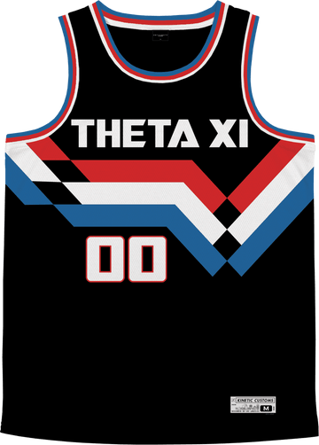 Theta Xi - Victory Streak Basketball Jersey - Kinetic Society
