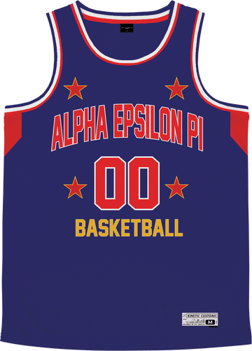 Alpha Epsilon Pi - Retro Ballers Basketball Jersey Premium Basketball Kinetic Society