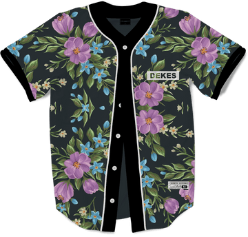 Delta Kappa Epsilon - Midnight Bloom Baseball Jersey - Kinetic Society