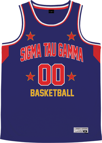 Sigma Tau Gamma - Retro Ballers Basketball Jersey - Kinetic Society