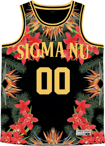 Sigma Nu - Orchid Paradise Basketball Jersey Premium Basketball Kinetic Society