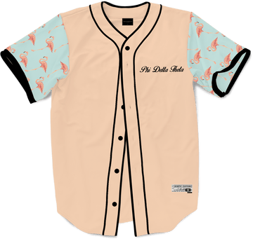 Phi Delta Theta - Flamingo Fam Baseball Jersey - Kinetic Society