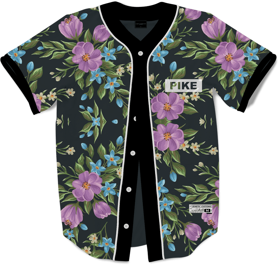 Pi Kappa Alpha - Midnight Bloom Baseball Jersey - Kinetic Society
