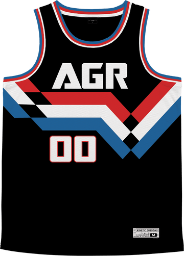 Alpha Gamma Rho - Victory Streak Basketball Jersey - Kinetic Society
