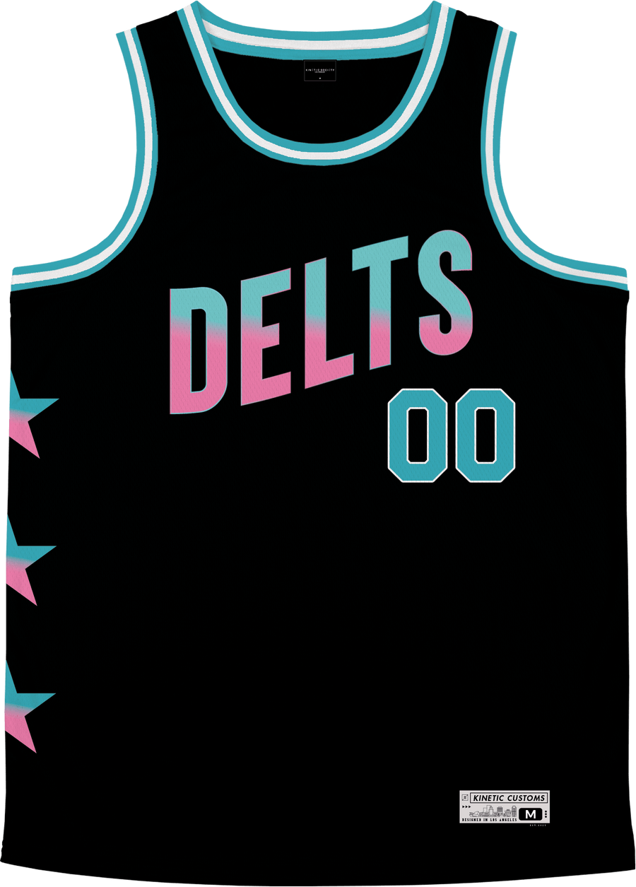 Delta Tau Delta - Cotton Candy Basketball Jersey Premium Basketball Kinetic Society