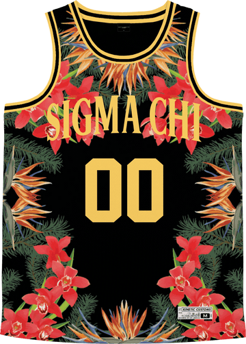 Sigma Chi - Orchid Paradise Basketball Jersey - Kinetic Society