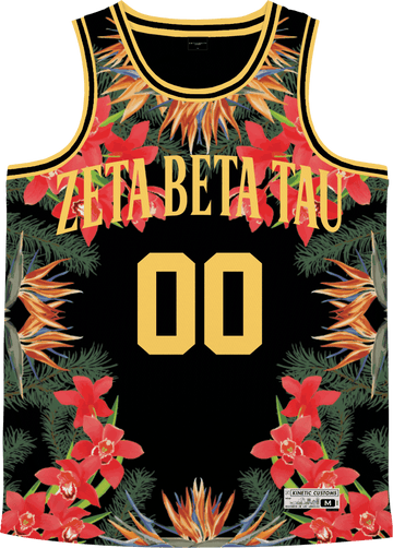 Zeta Beta Tau - Orchid Paradise Basketball Jersey - Kinetic Society