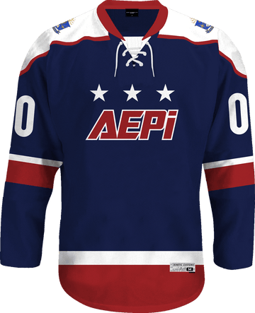 Alpha Epsilon Pi - Fame Hockey Jersey Hockey Kinetic Society LLC