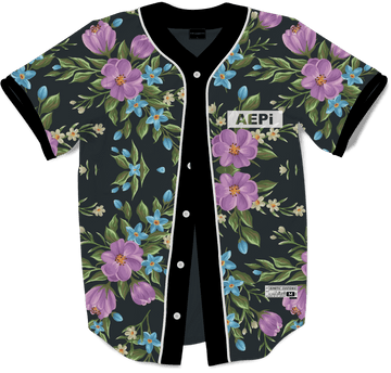 Alpha Epsilon Pi - Midnight Bloom Baseball Jersey Premium Baseball Kinetic Society