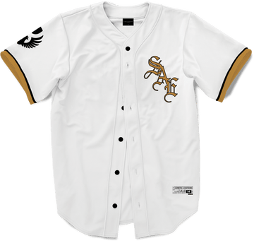 Sigma Alpha Epsilon - Olde English Baseball Jersey Premium Baseball Kinetic Society LLC