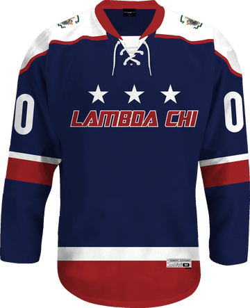 Lambda Chi Alpha - Fame Hockey Jersey Hockey Kinetic Society LLC