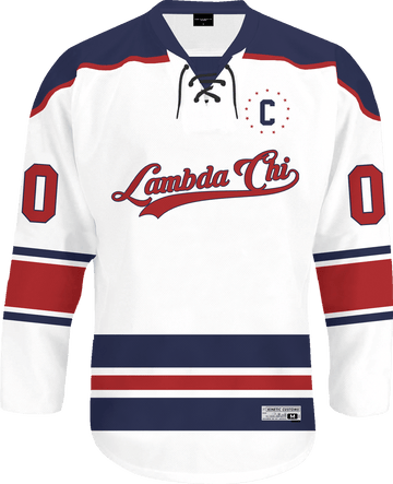 Lambda Chi Alpha - Captain Hockey Jersey Hockey Kinetic Society LLC