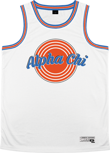 Alpha Chi Omega - Vintage Basketball Jersey - Kinetic Society