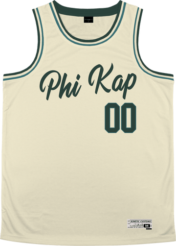 Phi Kappa Sigma - Buttercream Basketball Jersey Premium Basketball Kinetic Society LLC