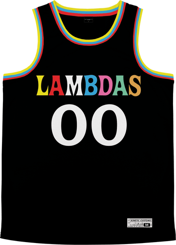 Lambda Phi Epsilon - Crayon House Basketball Jersey Premium Basketball Kinetic Society LLC