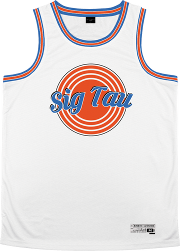 Sigma Tau Gamma - Vintage Basketball Jersey - Kinetic Society