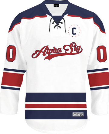 Alpha Sigma Phi - Captain Hockey Jersey - Kinetic Society