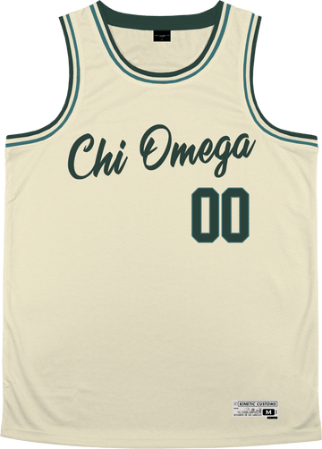 Chi Omega - Buttercream Basketball Jersey - Kinetic Society