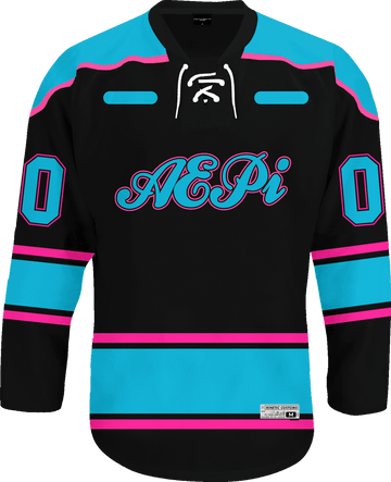 Alpha Epsilon Pi - Tokyo Nights Hockey Jersey Hockey Kinetic Society LLC