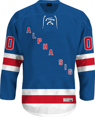 Alpha Sigma Phi - Blue Legend Hockey Jersey - Kinetic Society