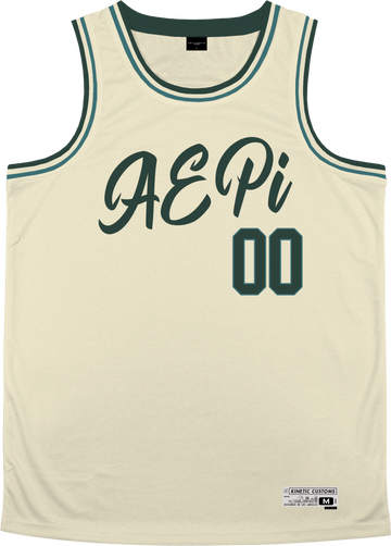 Alpha Epsilon Pi - Buttercream Basketball Jersey Premium Basketball Kinetic Society LLC