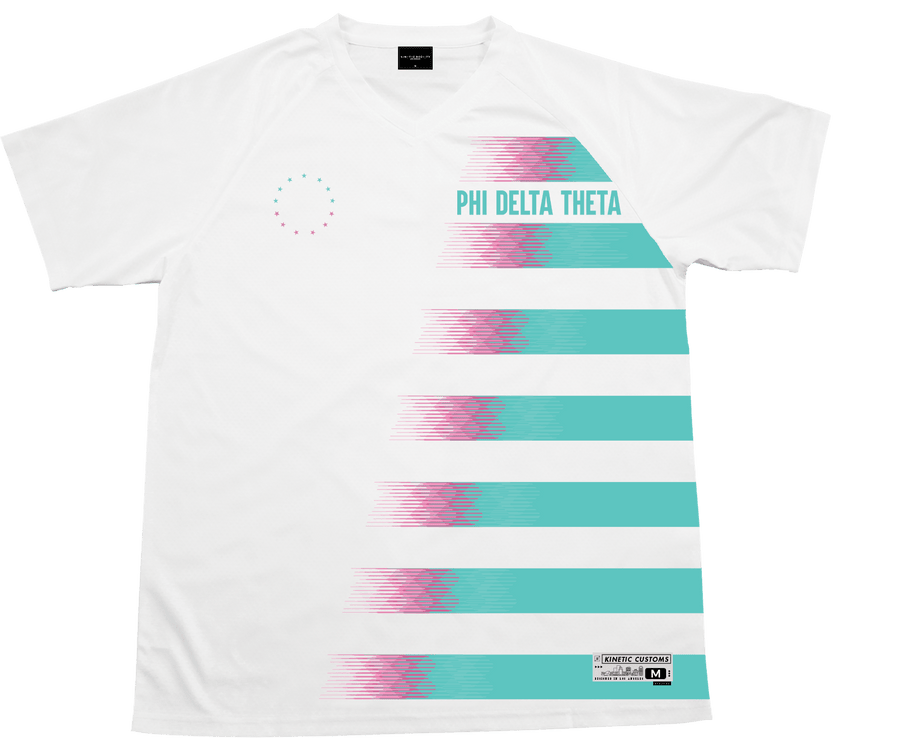 Phi Delta Theta - White Candy Floss Soccer Jersey - Kinetic Society