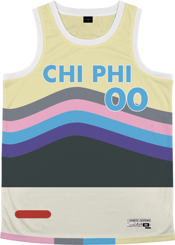 Chi Phi - Swirl Basketball Jersey - Kinetic Society