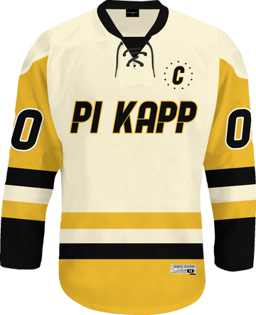 Pi Kappa Phi - Golden Cream Hockey Jersey Hockey Kinetic Society LLC