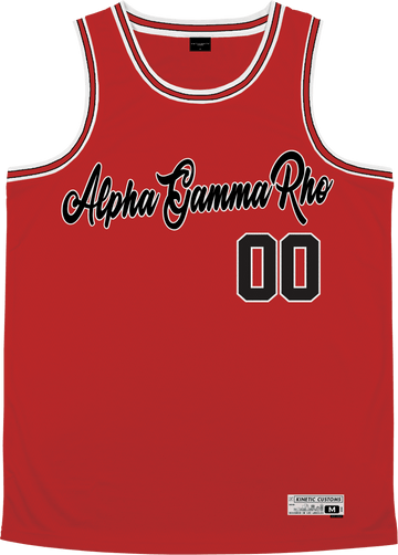 Alpha Gamma Rho - Big Red Basketball Jersey - Kinetic Society